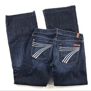 7 For All Mankind Dojo Wide Leg Jeans 27